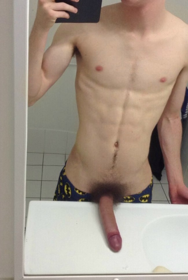 Ripped Boy with Big Hairy Cock