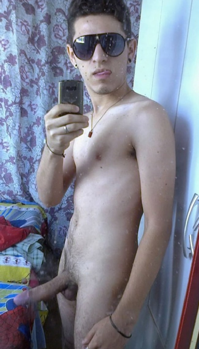 Nude Boy With Uncut Cock
