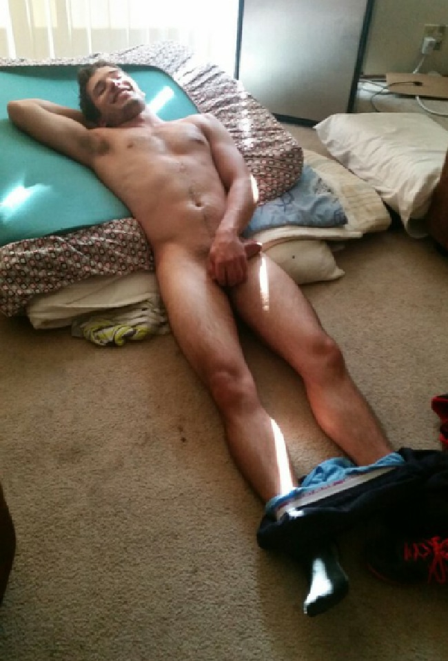 Nude Guy Holding Cock