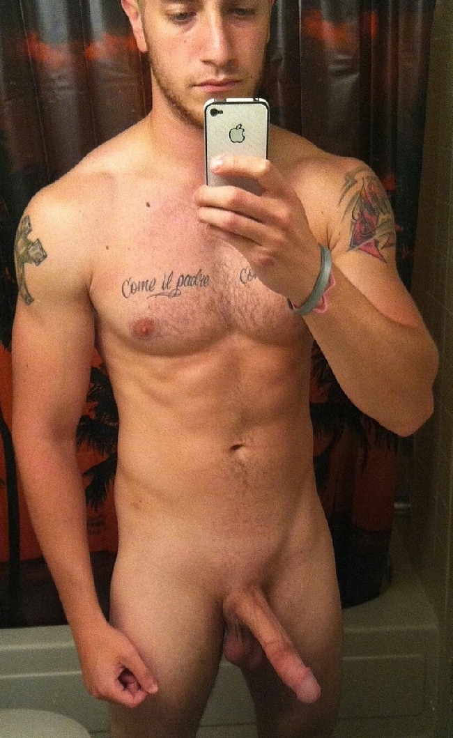 Hunky Guy With A Long Thin Cock - Nude Men Post